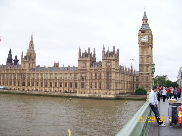 The iconic Big Ben clock tower in London.