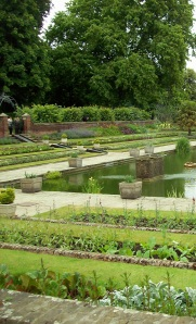 The Kensington Palace's sunken garden.