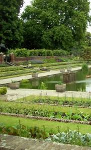 The Kensington Palace's sunken garden.