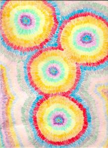 """""""Parasols,"""" original artwork by Nina Fazzi"""