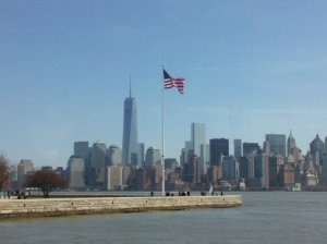 New York Harbor skyline photo by Nina Fazzi
