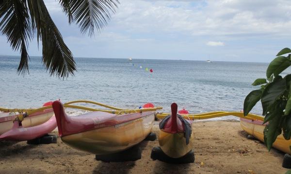 Canoes on Maui Beach 2014