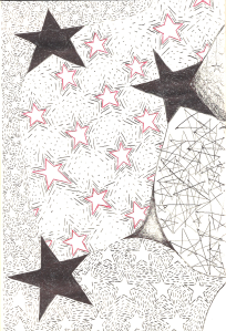 """Stars"" original art by NIna Fazzi"