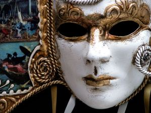"""Siege of the Heart"" was written by Elise Cyr, the pen name of the author behind this mask."