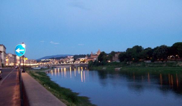 The Arno at dusk.