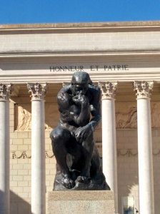 """Auguste Rodin's """"The Thinker"""" at the Legion of Honor Museum in San Francisco."""