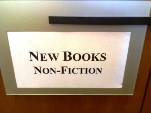 Folsom Library-Nonfiction Sign