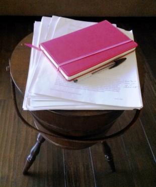 manuscript on bucket-CindyFazziPic