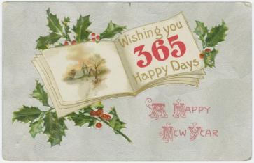 """""""A happy New Year."""" New York Public Library Digital Collections."""